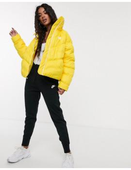 Nike Yellow High Neck Padded Jacket by Nike