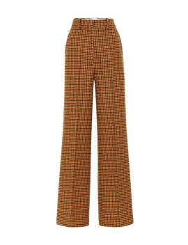 Bernadette Gingham Wool Felt Pants by Khaite