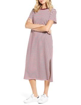 Stripe Midi T Shirt Dress by Ban.Do