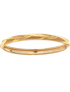 10kt Solid Yellow Gold Thumb Ring In A Diamond Cut Design by Body Expressions