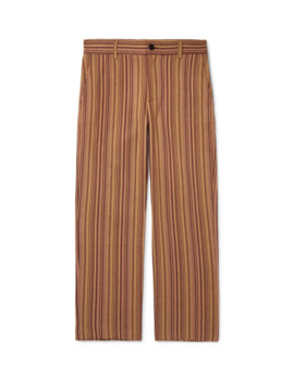 Mike Striped Cotton Twill Trousers by Séfr