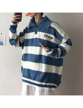 Puani   Striped Polo Sweater by Puani