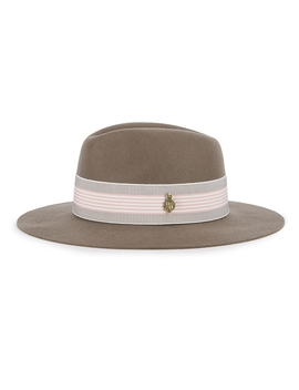 Dovecote Taupe Wool Felt Fedora by Christys' London