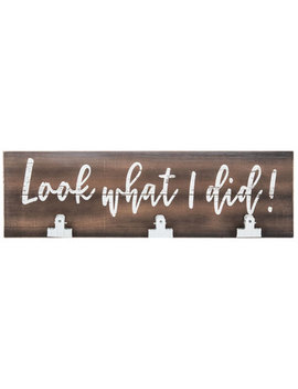 Look What I Did Wood Wall Decor With Clips by Hobby Lobby