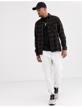 Pull&Bear Overshirt In Brown Check by Pull&Bear
