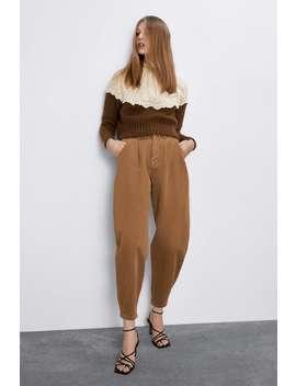 Spodnie Typu Slouchy Z Tkaniny Jeansowej Z Kolekcji Z1975 by Zara