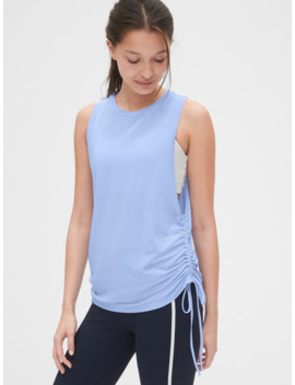 Gap Fit Breathe Side Cinch Tank Top by Gap