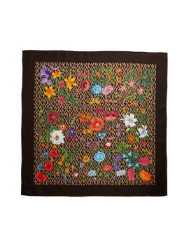 Flora Privilege Silk Twill Scarf by Gucci