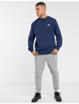 Nike Club Crew Neck Sweat In Navy by Nike