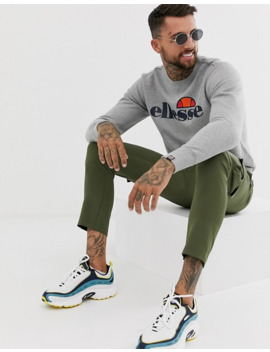 Ellesse Succiso Sweatshirt With Classic Logo In Grey by Ellesse