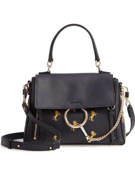 Small Faye Daye Embroidered Leather Shoulder Bag by ChloÉ