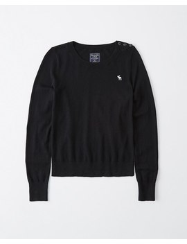 Icon Crewneck Sweater by Abercrombie & Fitch