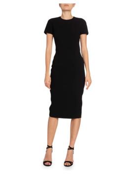 Crepe Crewneck T Shirt Dress by Victoria Beckham