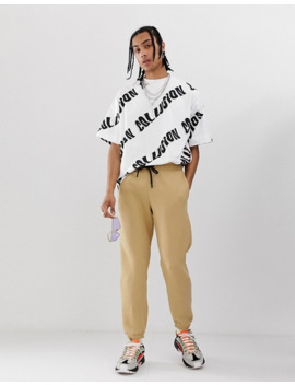 Collusion   Oversized T Shirt Met Print by Collusion