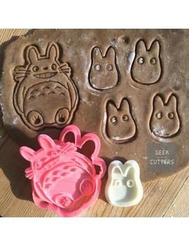Totoro + Chibi Cookie Cutters Set   *Dishwasher Safe Option*   3 D Printed by Etsy