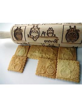 Embossing Rolling Pin Totoro. Laser Engraved Rolling Pin With Anime Pattern by Etsy