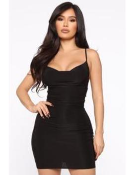 Let's Run Away Mini Dress   Black by Fashion Nova