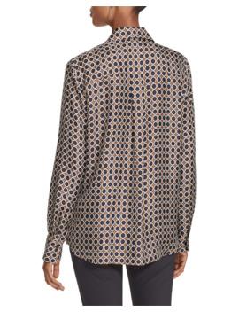 Julianne Distinct Dot Long Sleeve Silk Blouse by Lafayette 148 New York