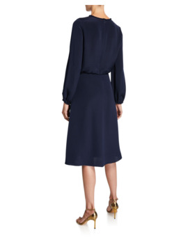 Kaya Long Sleeve Silk Georgette Dress by Kobi Halperin
