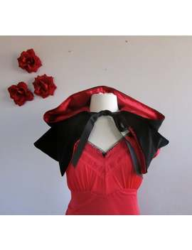 Red Riding Hood Capelet Red Velvet Hooded Cape For Women by Etsy