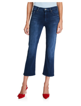 The Outsider Straight Leg Crop Jeans by Mother