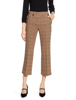 X Atlantic Pacific Check Kick Flare Pants by Halogen