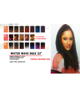 "Water Wave Bulk 22"" Cherish Braiding Crochet Braids Braid Uk Seller Free Post by Ebay Seller"