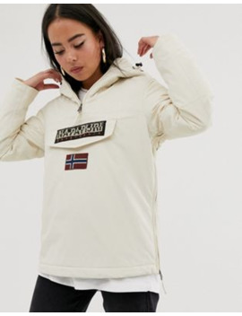 Napapijri Rainforest Winter 3 Overhead Jacket In Cream by Napapijri