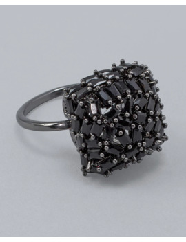 Adjustable Cubic Zirconia Cluster Ring by Whbm