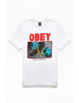 Obey World Domination T Shirt by Pacsun