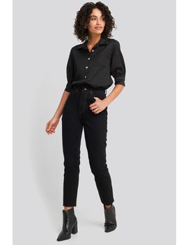 High Waist Mom Jeans Black by Trendyol