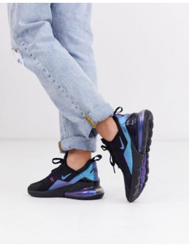 Nike Air Max 270 Sneakers In Black And Blue by Nike