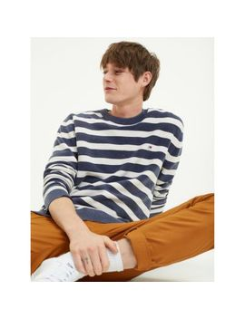Washed Stripe Cotton Sweatshirt by Tommy Jeans
