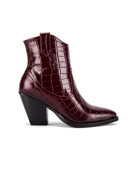 Rolene Croco Bootie In Berry Croc by Allsaints