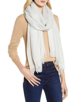 Heathered Cashmere Gauze Scarf by Nordstrom