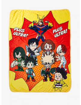 My Hero Academia Chibi Group Throw Blanket by Hot Topic
