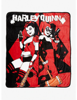 Dc Comics Harley Quinn Throw Blanket by Hot Topic