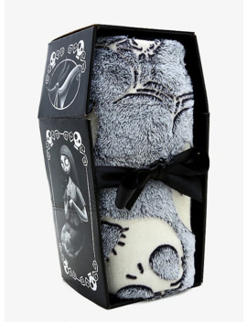 The Nightmare Before Christmas Glow In The Dark Jack &Amp; Spider Throw Blanket by Hot Topic
