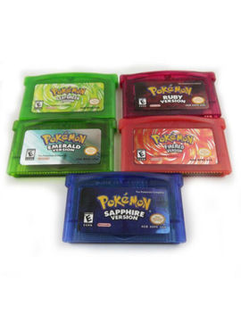 Fan Advance Gameboy Cartridge Game Card For Pokemon Ndsl/Gbc/Gbm/Gba/Sp 5 Styles by Ebay Seller