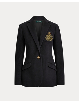 Bullion Patch Blazer by Ralph Lauren