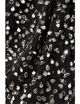 Imanea Paillette Embellished Embroidered Chiffon Top by Isabel Marant