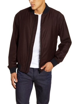 Cadus Regular Fit Wool Bomber Jacket by Boss