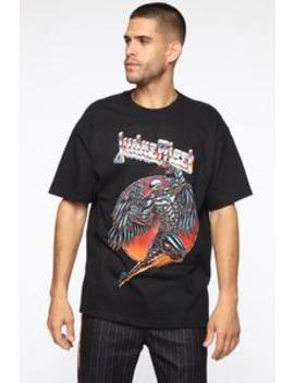 Judas Priest Short Sleeve Tee   Black/Combo by Fashion Nova