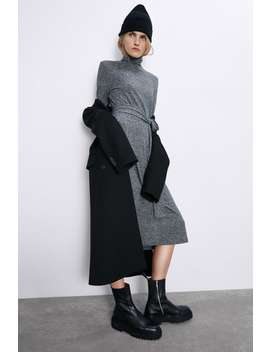 Soft Touch Belted Dress by Zara