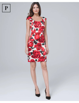 Rose Print Sheath Dress by Whbm