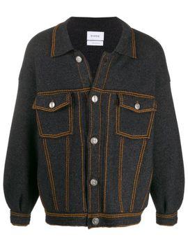 Oversized Denim Style Jacket by Barrie