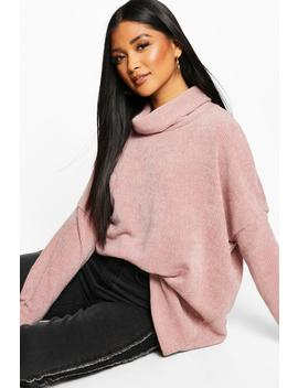 Oversized Roll Neck Chenille Jumper by Boohoo