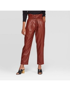 Women's Mid Rise Straight Leg Paperbag Pants   Who What Wear™ by Who What Wear