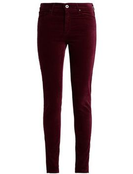 Cotton Blend Velvet Skinny Pants by Ag Jeans