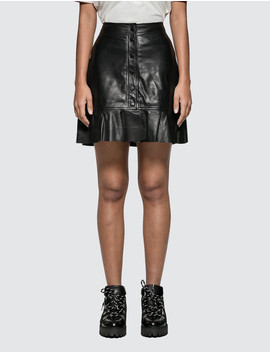 Rhinehart Leather Skirt by Ganni
